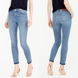 J. CREW Lookout High Rise Crop Jean Boater Raw Hem